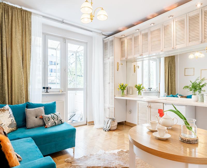 Stylizacja mieszkania na Saskiej Kępie